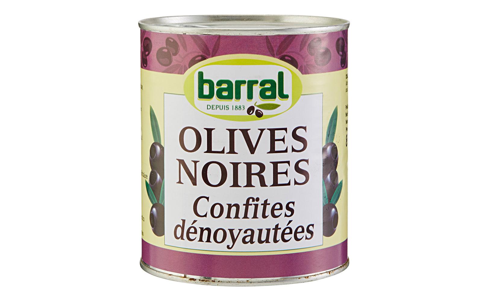 barral entkernte schwarze oliven