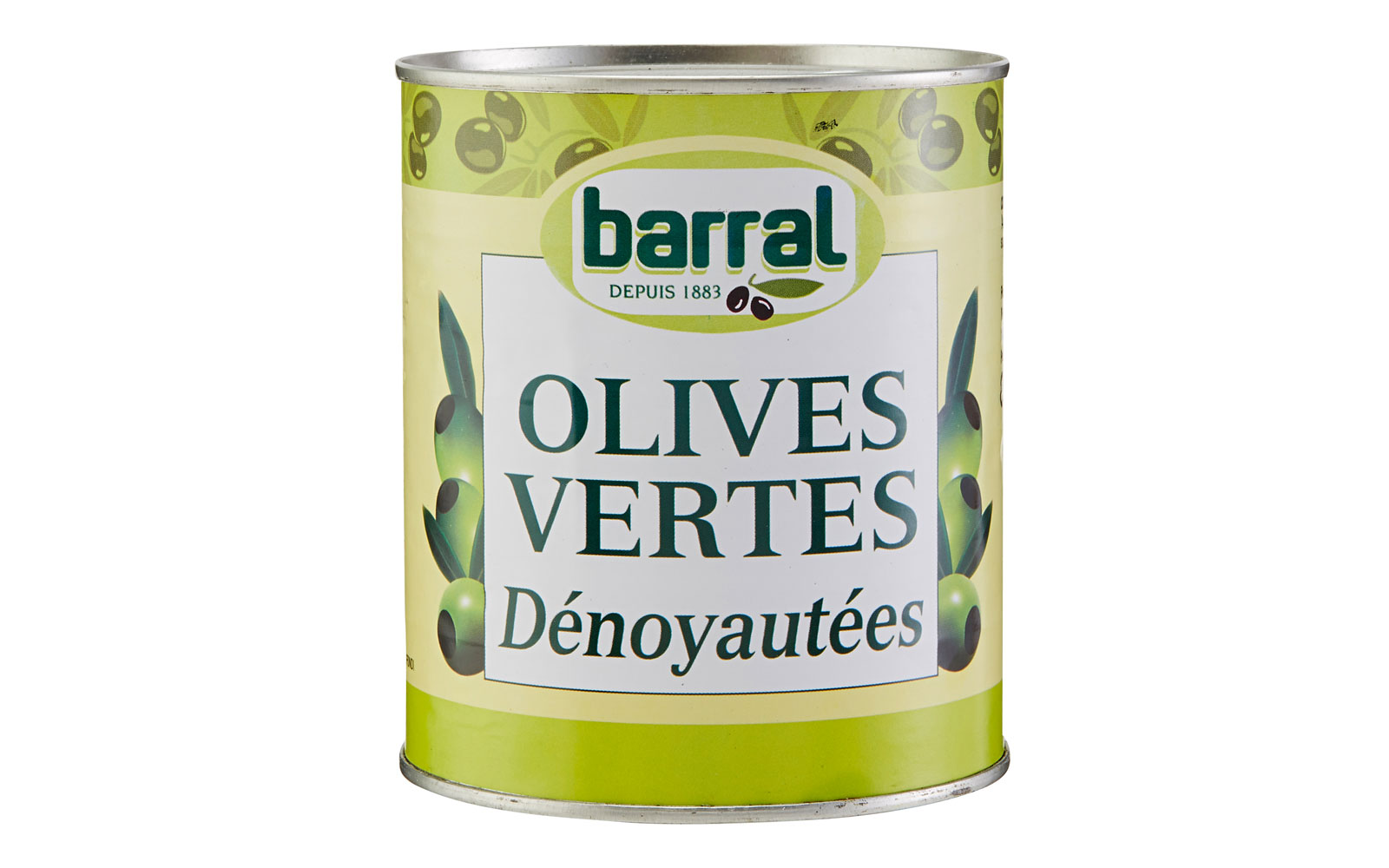 barral pitted grune oliven