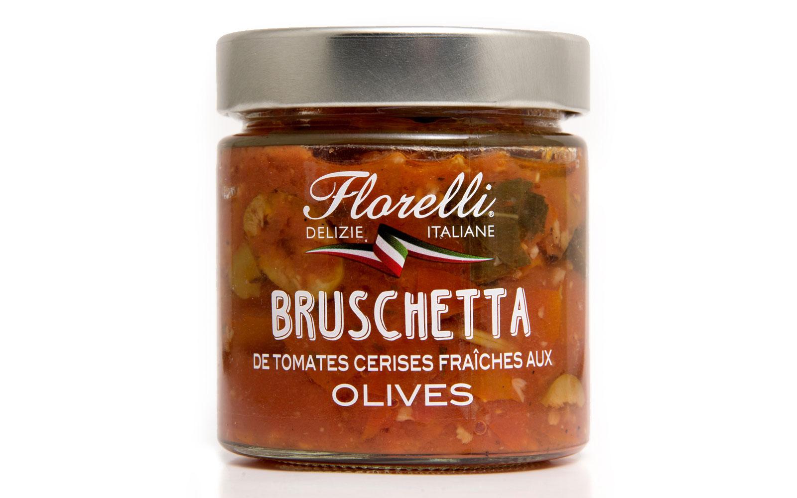 florelli bruschetta tomatoes olives